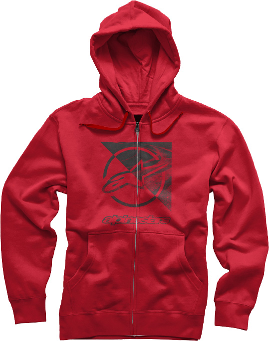 Moletom Alpinestars Rift Zip Hoodie Red Lan�amento 2016!!   - Super Bike - Loja Oficial Alpinestars