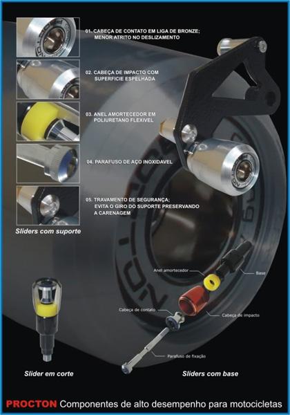 Slider dianteiro procton  GSXR -1000 2015  - Super Bike - Loja Oficial Alpinestars