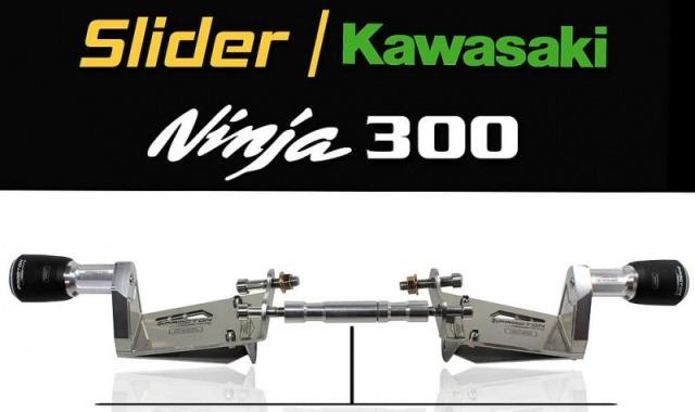 Slider Dianteiro Procton Racing com amortecimento p/ Kawasaki Ninja 300 13/15  - Super Bike - Loja Oficial Alpinestars