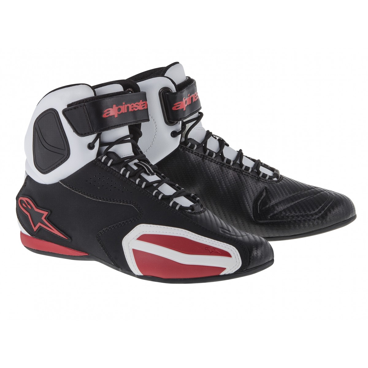 Tênis Alpinestars Faster Tricolor (Black/White/Red)  - Super Bike - Loja Oficial Alpinestars