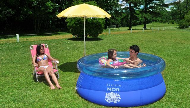 Piscina splash fun 1400 litros mor 1 80m borda for Piscina 1000 litros