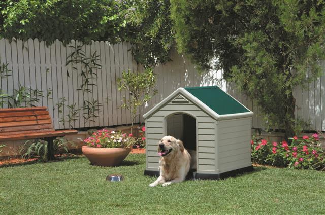 casinha de cachorro keter pet house 99 x 99 x 95 cm spk brasil loja virtual. Black Bedroom Furniture Sets. Home Design Ideas