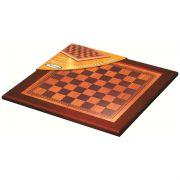 Tabuleiro em Madeira Classic 40 x 40 Xadrez e Damas Xalingo