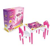Mesinha Casinha Flor com 2 cadeiras - Xalingo