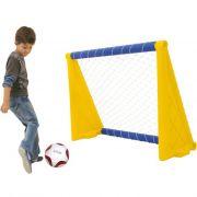 Trave de Gol com Bola Xalingo - Futebol - 116 X 98 X 50 Cm