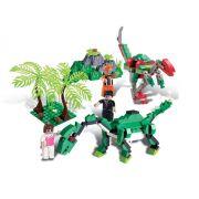 Bloco de Encaixe Dino Saga Safari de Exploração 272 pc - Xalingo