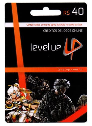 Cartão Level Up R$40  - FastGames - Gamers levados a sério