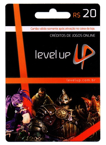 Cart�o Level Up R$20  - FastGames - Gamers levados a s�rio