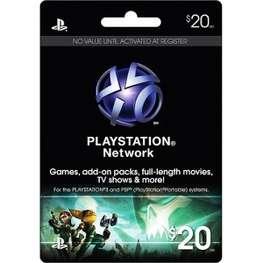 Cartão PSN $20  - FastGames - Gamers levados a sério