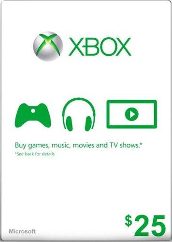 Cartão XBOX Live $25 (Live Americana)  - FastGames - Gamers levados a sério