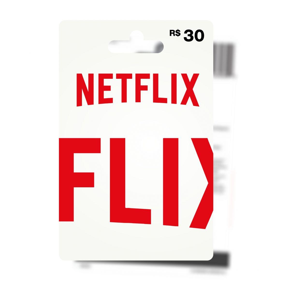 Cart�o Pr�-Pago Netflix R$30  - FastGames - Gamers levados a s�rio