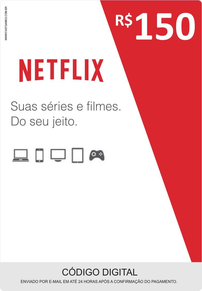 Cartão Pré-Pago Netflix R$150  - FastGames - Gamers levados a sério