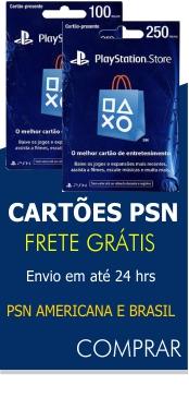 Cart�es PSN - Envio em 24hrs
