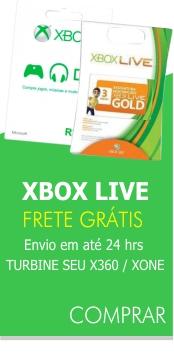 cart�es xbox live - envio em 24hrs