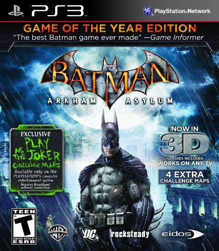 Batman: Arkham Asylum Game of The Year Edition 3D (Seminovo) - PS3  - FastGames - Gamers levados a sério