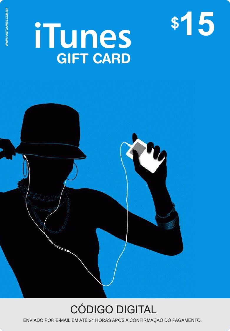 Cartão Itunes $15 Gift Card  - FastGames - Gamers levados a sério