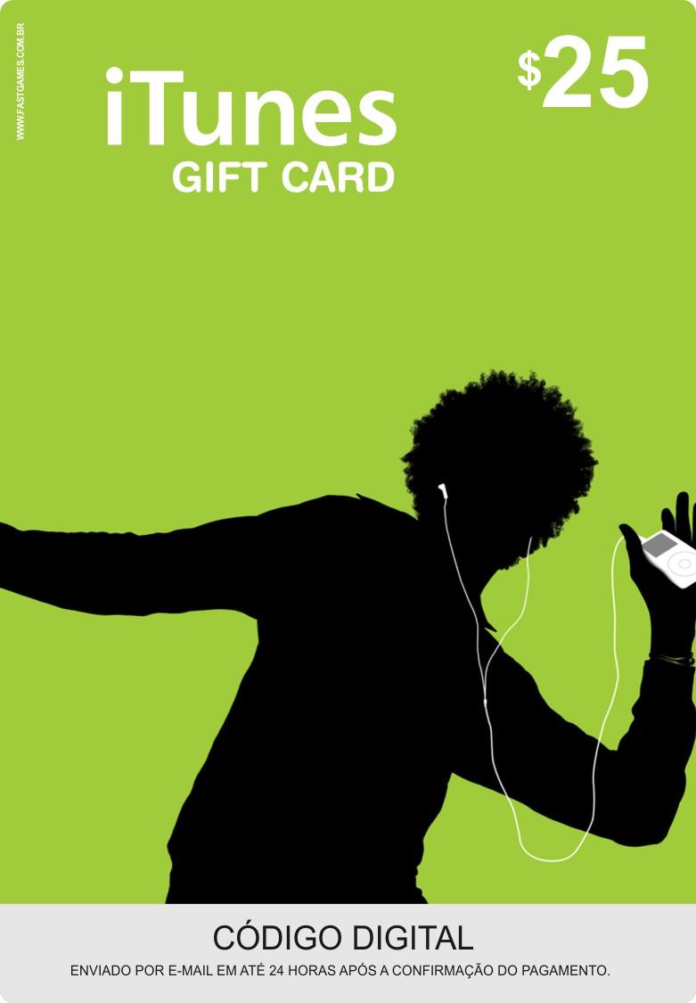 Cartão Itunes $25 Gift Card  - FastGames - Gamers levados a sério