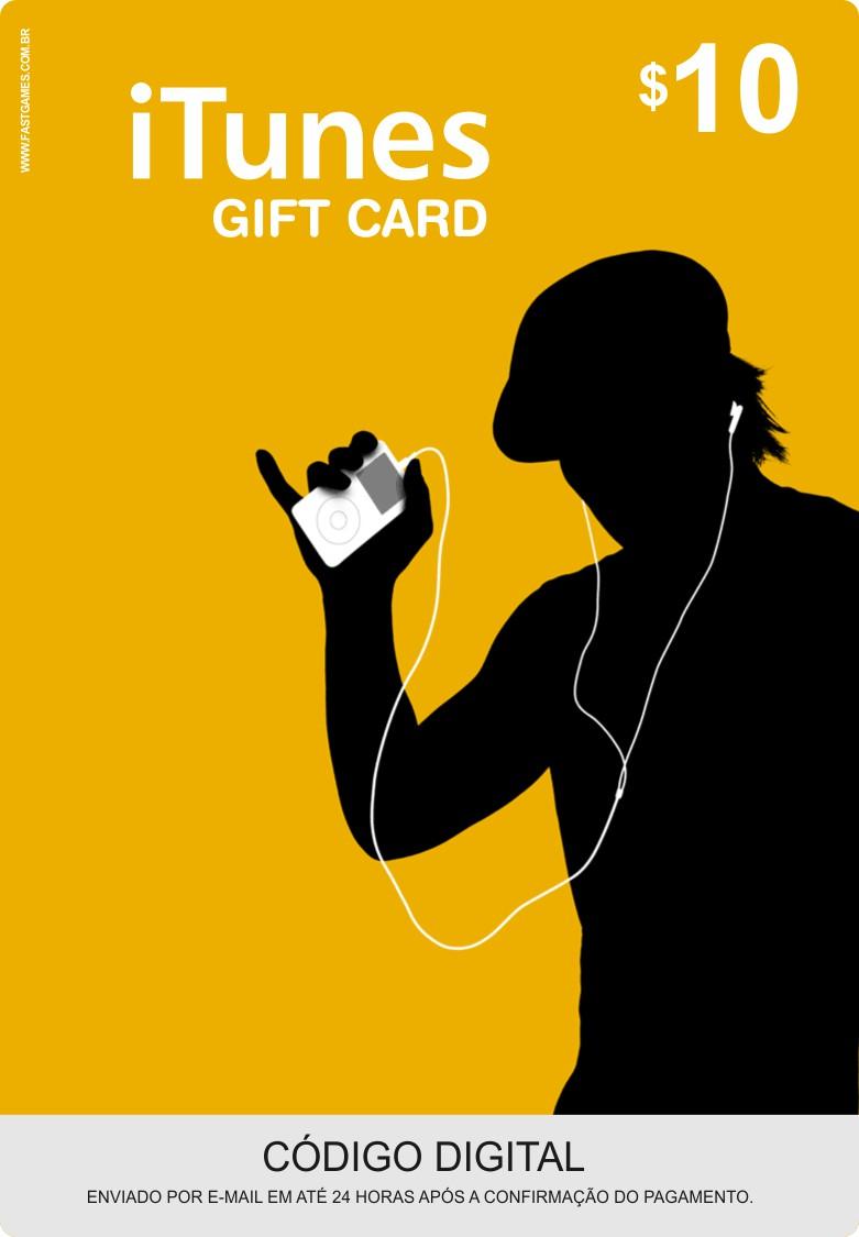Cartão Itunes $10 Gift Card  - FastGames - Gamers levados a sério