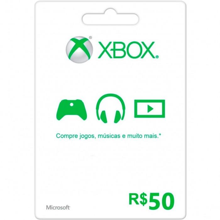 Cartão XBOX Live R$50 (Live Brasil)  - FastGames - Gamers levados a sério