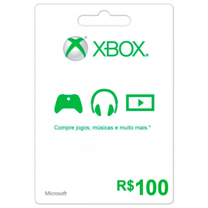 Cart�o XBOX Live R$100 (Live Brasil)  - FastGames - Gamers levados a s�rio