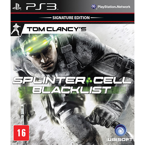 Tom Clancy´s Splinter Cell Blacklist (Seminovo) - PS3  - FastGames - Gamers levados a sério