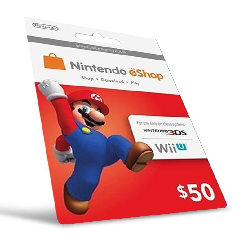 Cartão Nintendo Wii U / 3DS eShop Cash $50  - FastGames - Gamers levados a sério