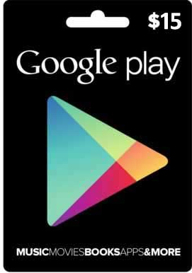Cart�o Google Play $15  - FastGames - Gamers levados a s�rio
