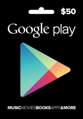 Cartão Google Play $50  - FastGames - Gamers levados a sério