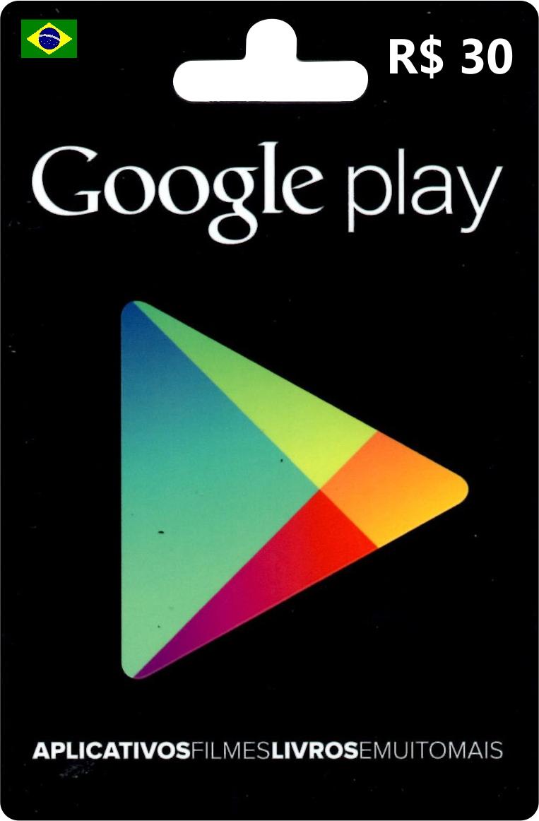 Cartão Google Play Brasil R$30  - FastGames - Gamers levados a sério