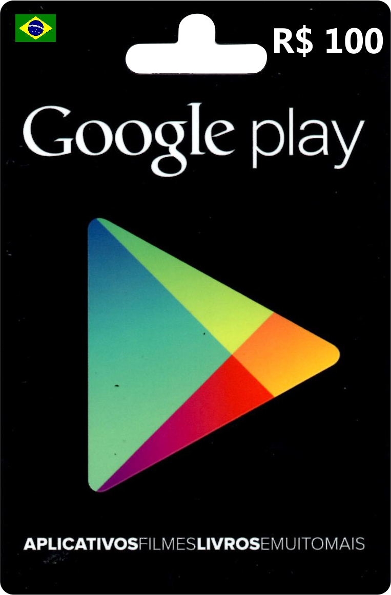 Cart�o Google Play Brasil R$100  - FastGames - Gamers levados a s�rio