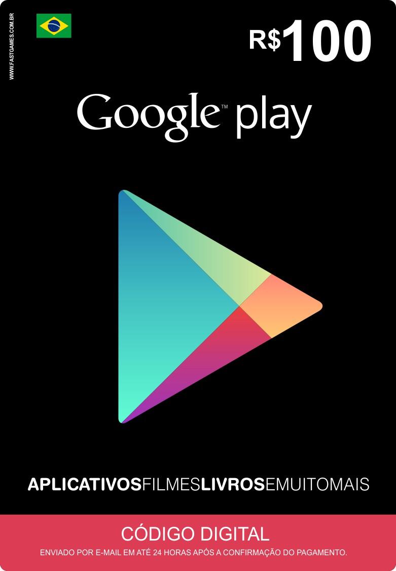 Cartão Google Play Brasil R$100  - FastGames - Gamers levados a sério
