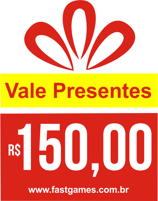 Vale Presente (Gift Card) - R$150  - FastGames - Gamers levados a sério