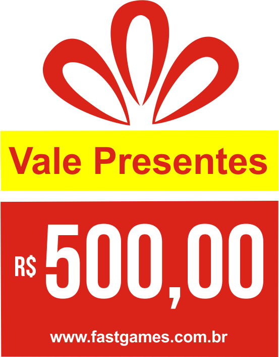 Vale Presente (Gift Card) - R$500  - FastGames - Gamers levados a sério