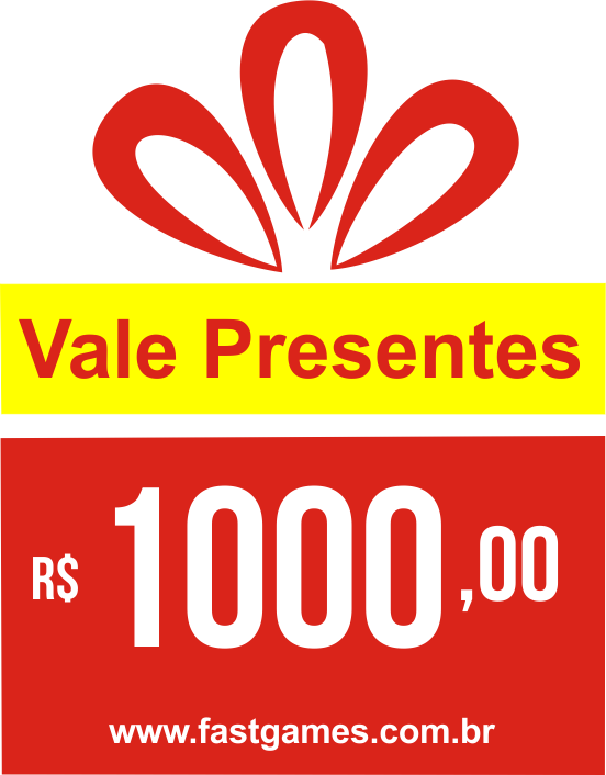 Vale Presente (Gift Card) - R$1000  - FastGames - Gamers levados a s�rio