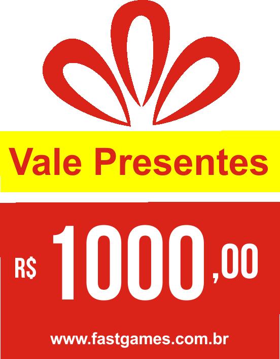 Vale Presente (Gift Card) - R$1000  - FastGames - Gamers levados a sério