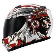 Capacete Mt Helmets Blade Chieftan White/Red (58)