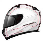 Capacete Mt Helmets Blade Raceline Matt White Red (58)