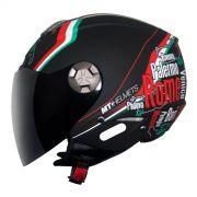 Capacete Mt Helmets City Eleven New Italy Matt Black (58)