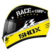 Capacete Shox Race Corp Black/Yellow (58)