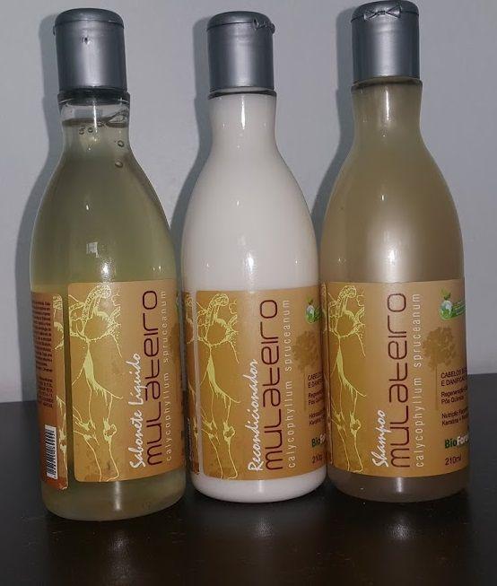 Kit Mulateiro: (1 Shampoo + 1 Condicionador + 1 Sabonete Líquido)