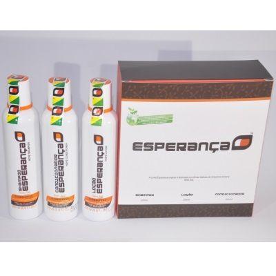 LEVE 4 PAGUE 3  - Frete Grátis -  4 Kits Shampoo Esperança (Shampoo + Loção + Condicionador) - Total 12 frascos
