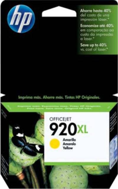 Cartucho 920 XL Original HP Amarelo