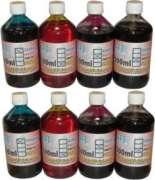 Kit 4 litros de tinta corante HP 8000 8100 8500 e 8600 1 Litro de cada cor
