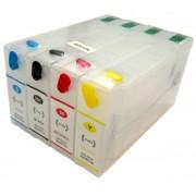 Kit com 4 Cartuchos Recarregáveis para Impressora Epson Workforce  Modelos: 4532, 4022, 4092 e 4592