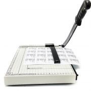 Guilhotina de papel com trava da VISUTEC – Corta até 10 folhas A4
