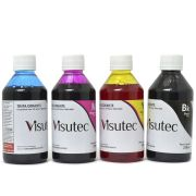Kit Tinta Corante HP 8000, 8100, 8500, 8600 + 250ml (cada cor)