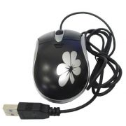 Mouse Multivisi USB com Fio Floral