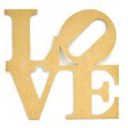 Palavra  decorativa LOVE em MDF cru