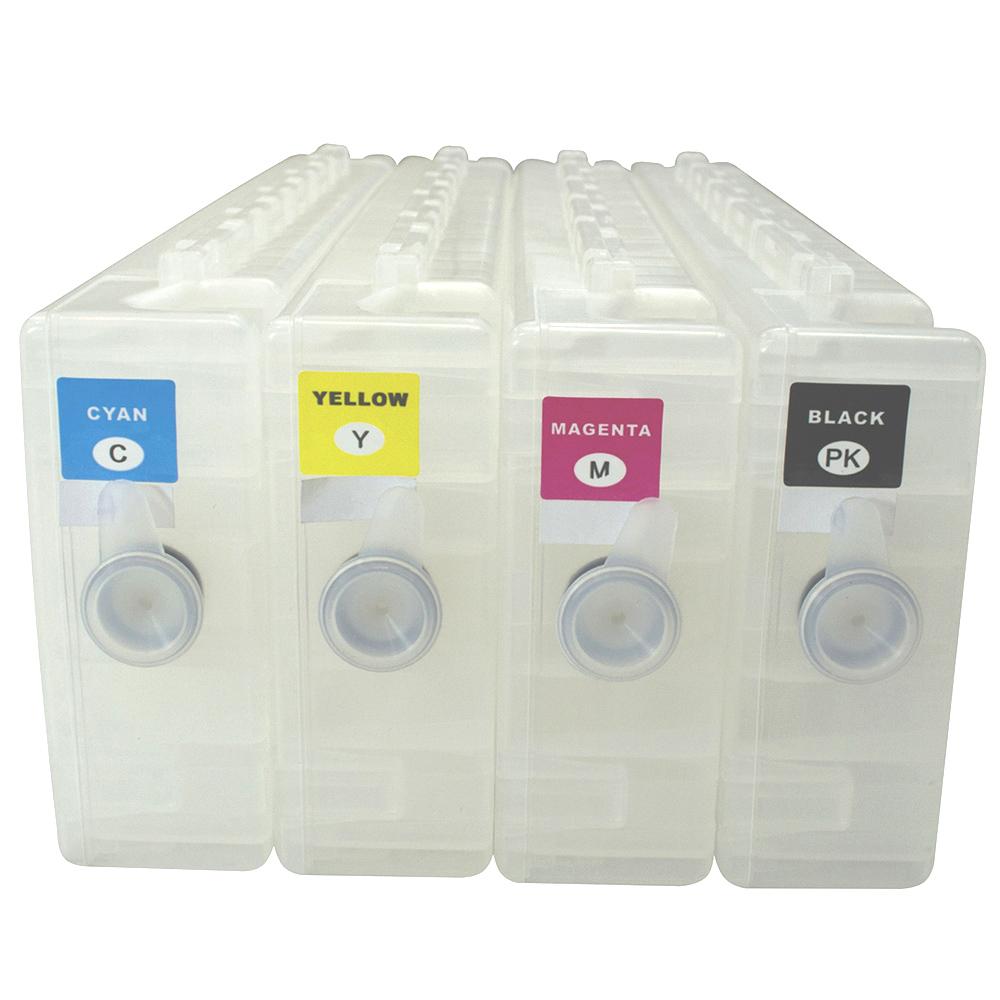 4 Cartuchos Recarregáveis para Plotter Epson S30670, S50670 e S70670