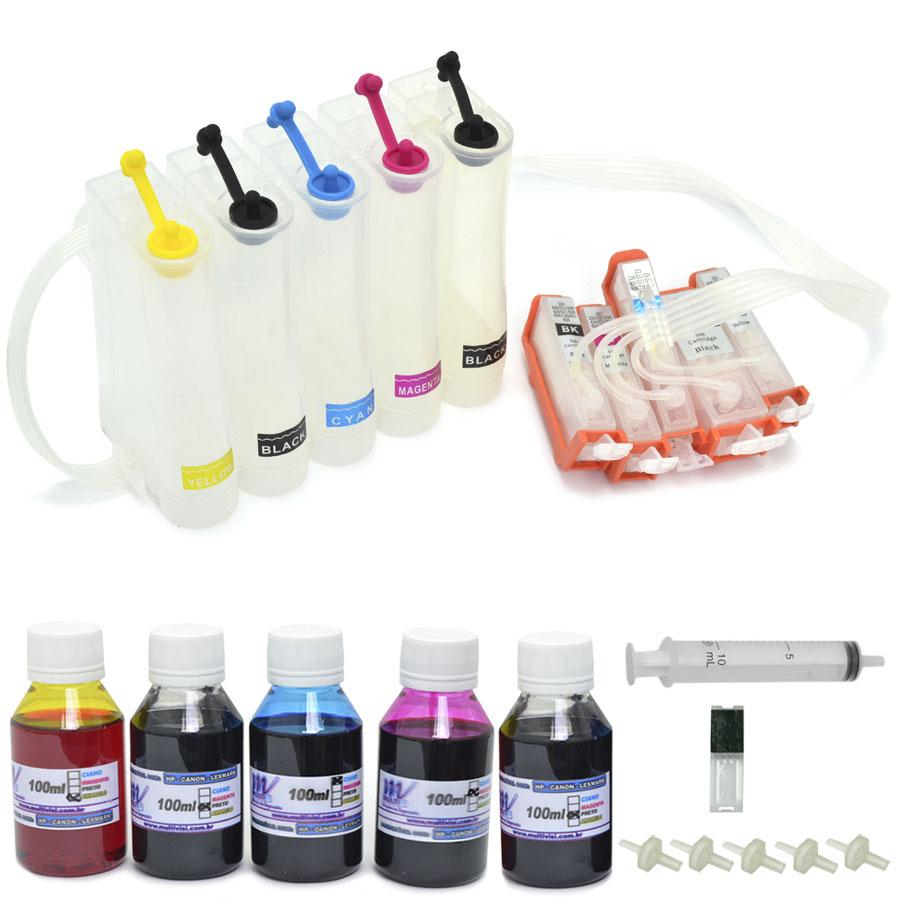 Bulk Ink para impressora Canon IP4810 e IP4910 com Cartuchos Recarregáveis